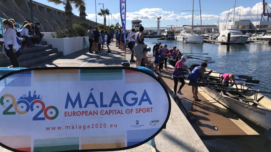 """I Regata de invierno de remo de banco fijo """"Ciudad de Málaga"""""""